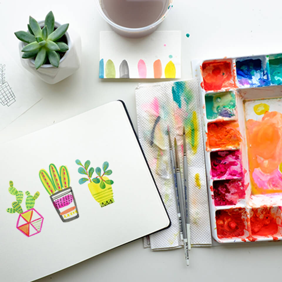 PAINTING SUCCULENTS: HINT FROM A MASTER ARTIST