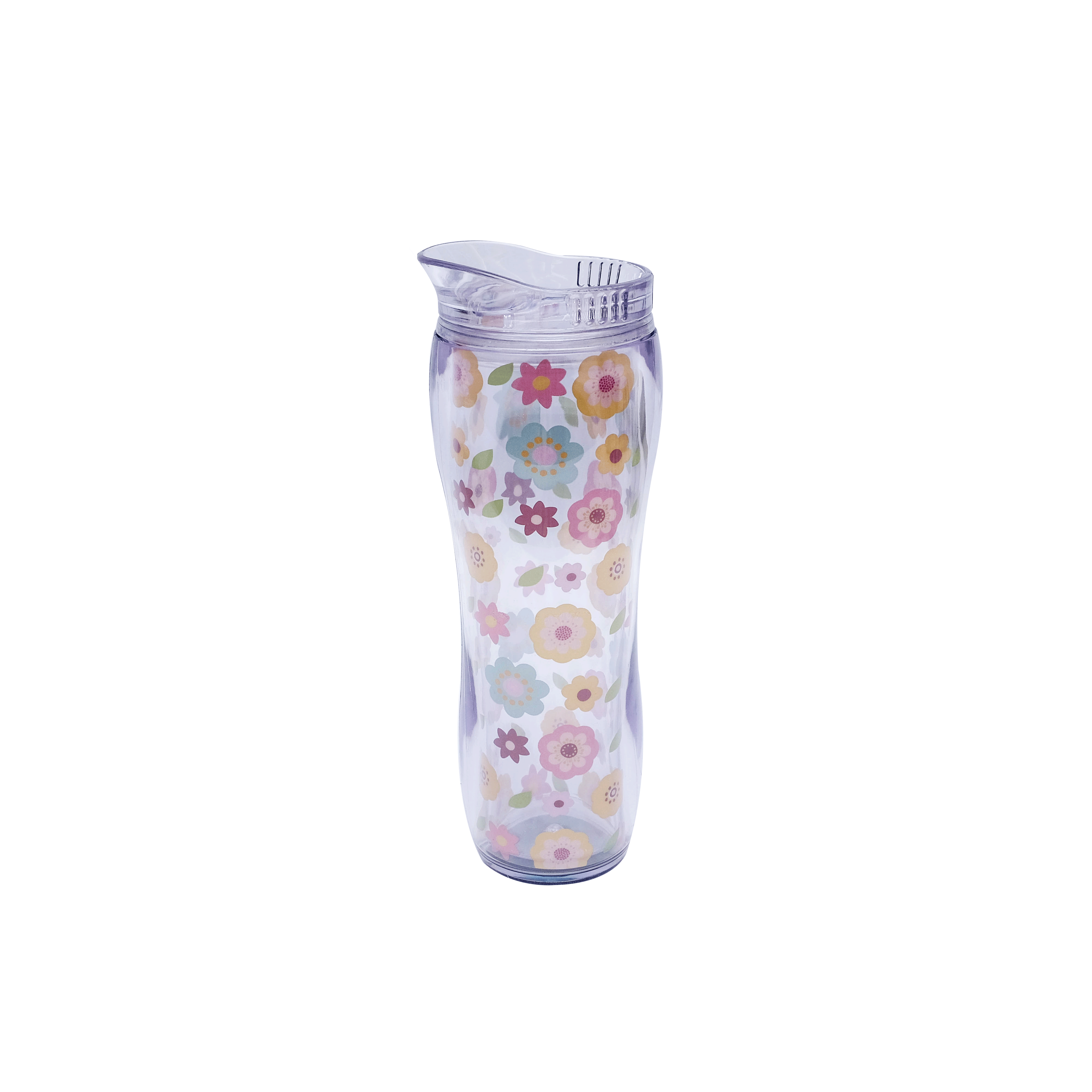 Insulated Curved Shape Tumbler with Floral Design C