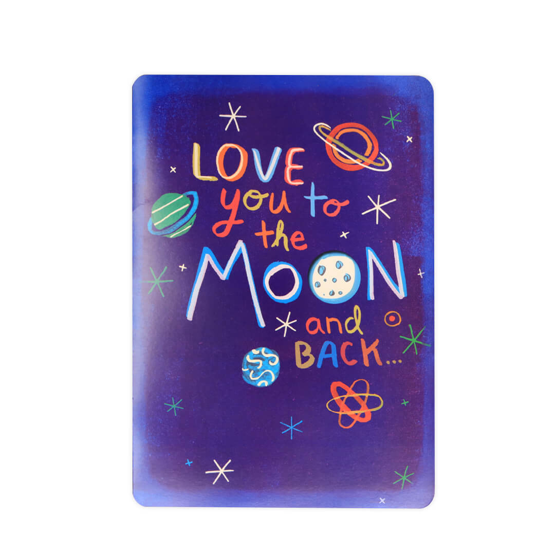 Love You To The Moon Big Time Card