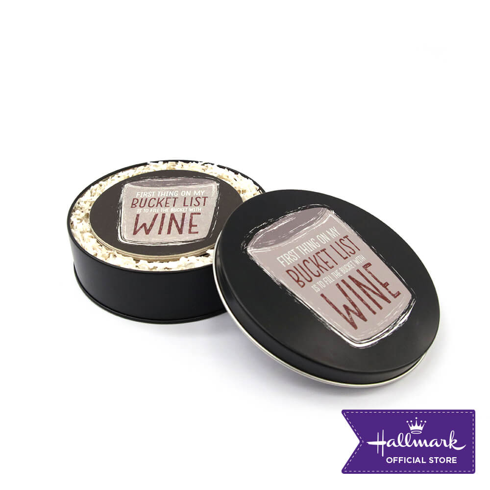 Hallmark Party Party 12-pieces Board Coasters with Canister (Bucket List)