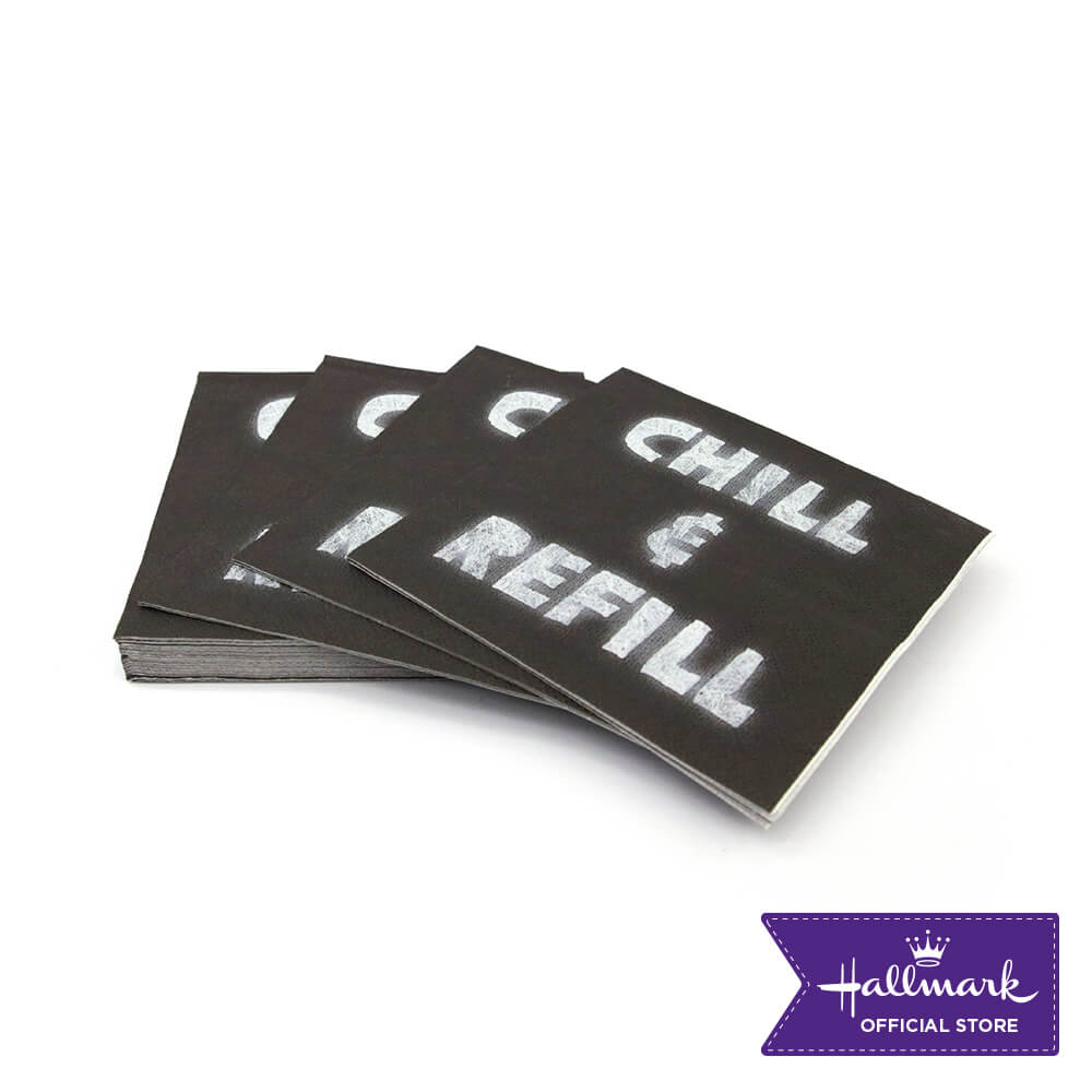 Hallmark Party Party Disposable Beverage Napkin 20 sheets (Chill and Refill)