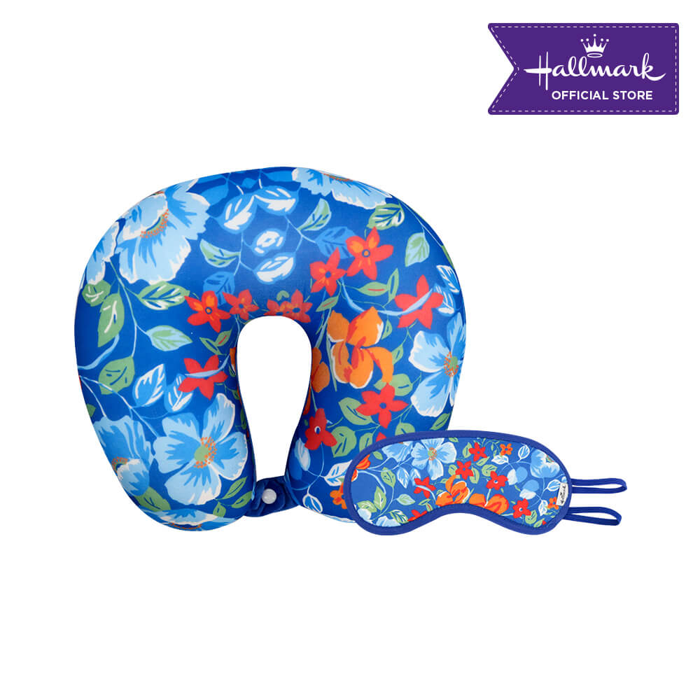 Hallmark Neck Pillow and Sleeping Eye Mask Gift Set A (Floral)