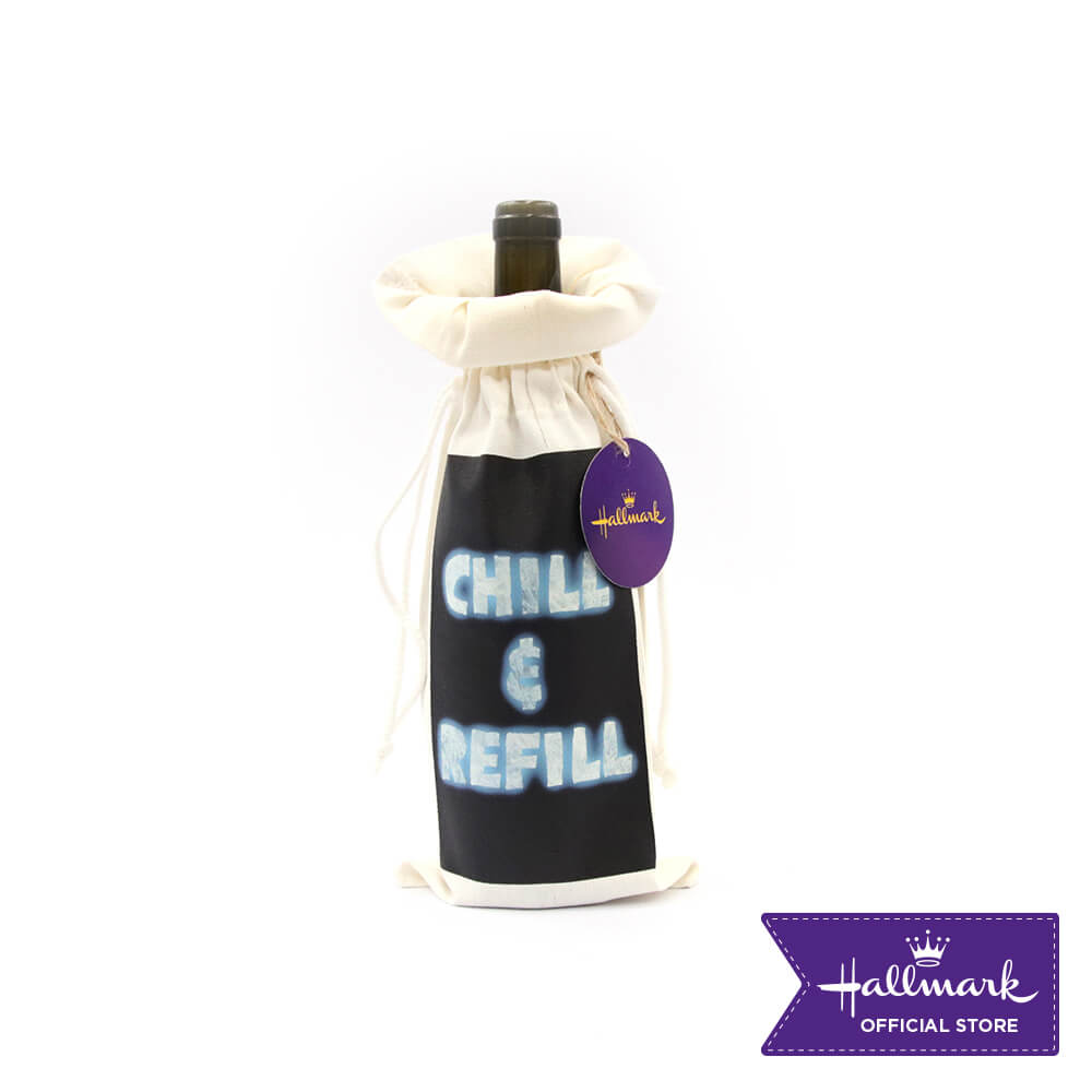 Hallmark Party Party 1 piece Canvas Wine Bag (Chill And Refill)