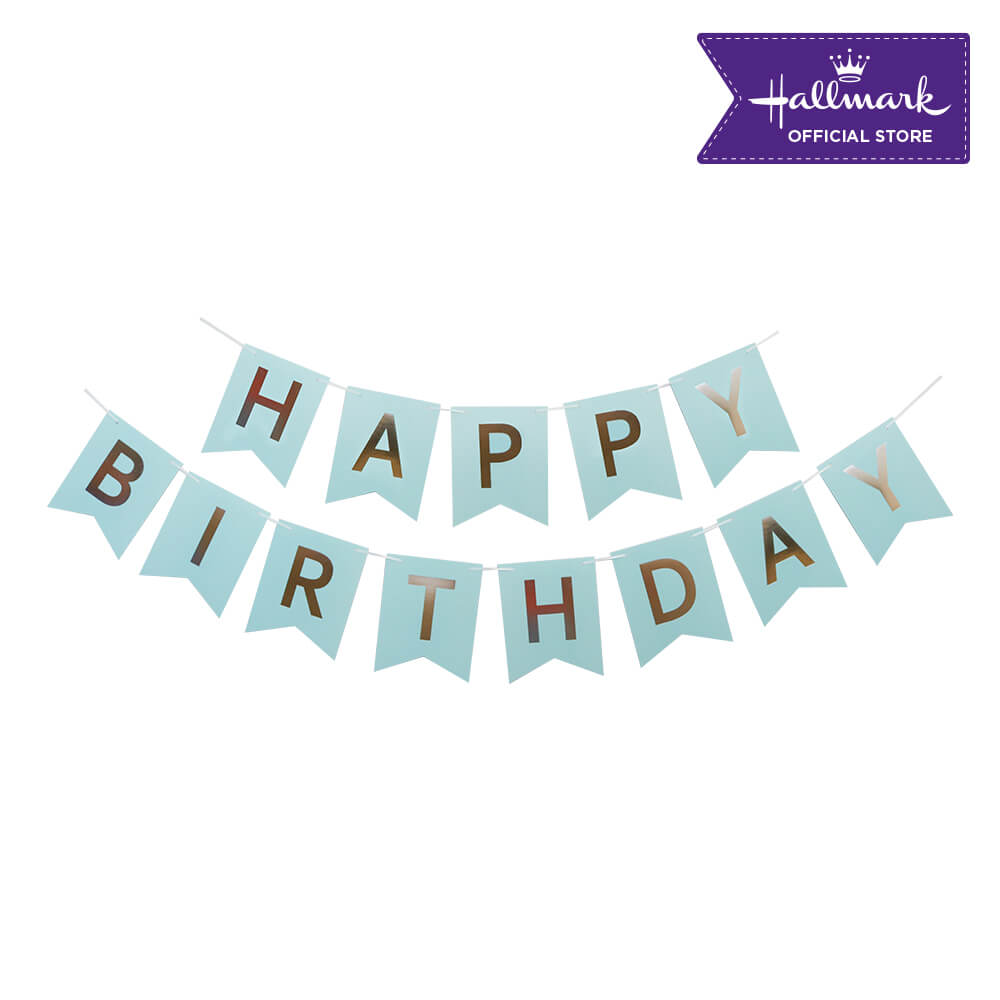 Hallmark Party! Party! Blue Happy Birthday Banner Party Decor