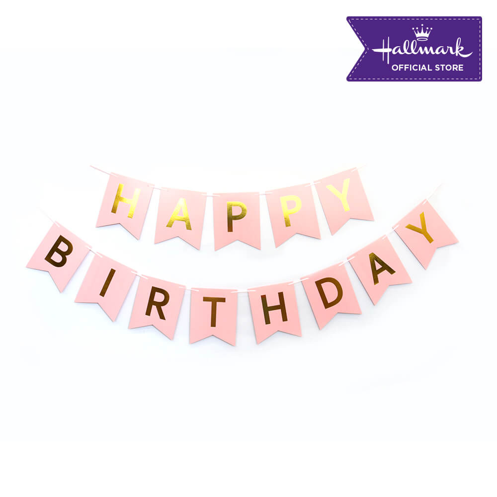 Hallmark Party! Party! Pink Happy Birthday Banner Party Decor