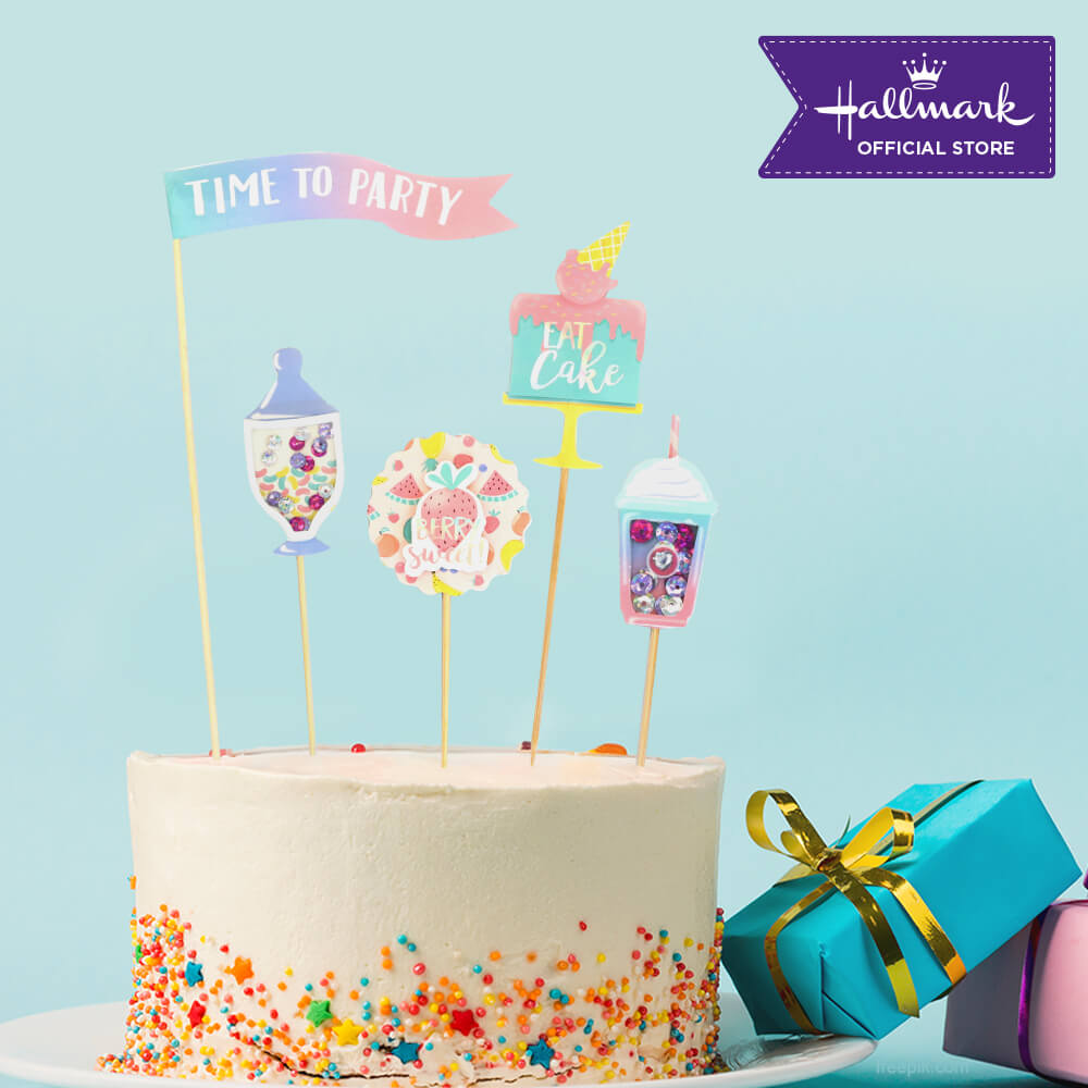 Hallmark Party! Party! Pastel Birthday Cake Toppers