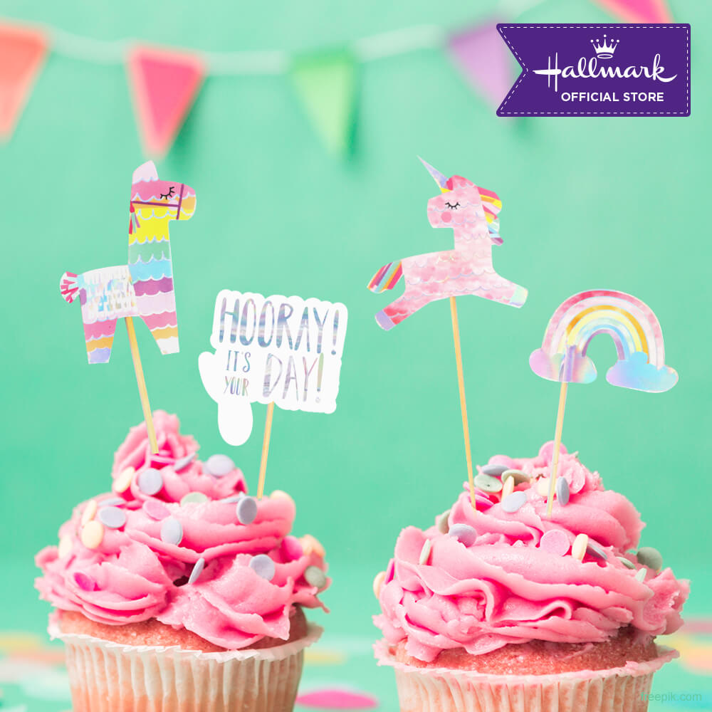 Hallmark Party! Party! Unicorn Birthday Cake Toppers