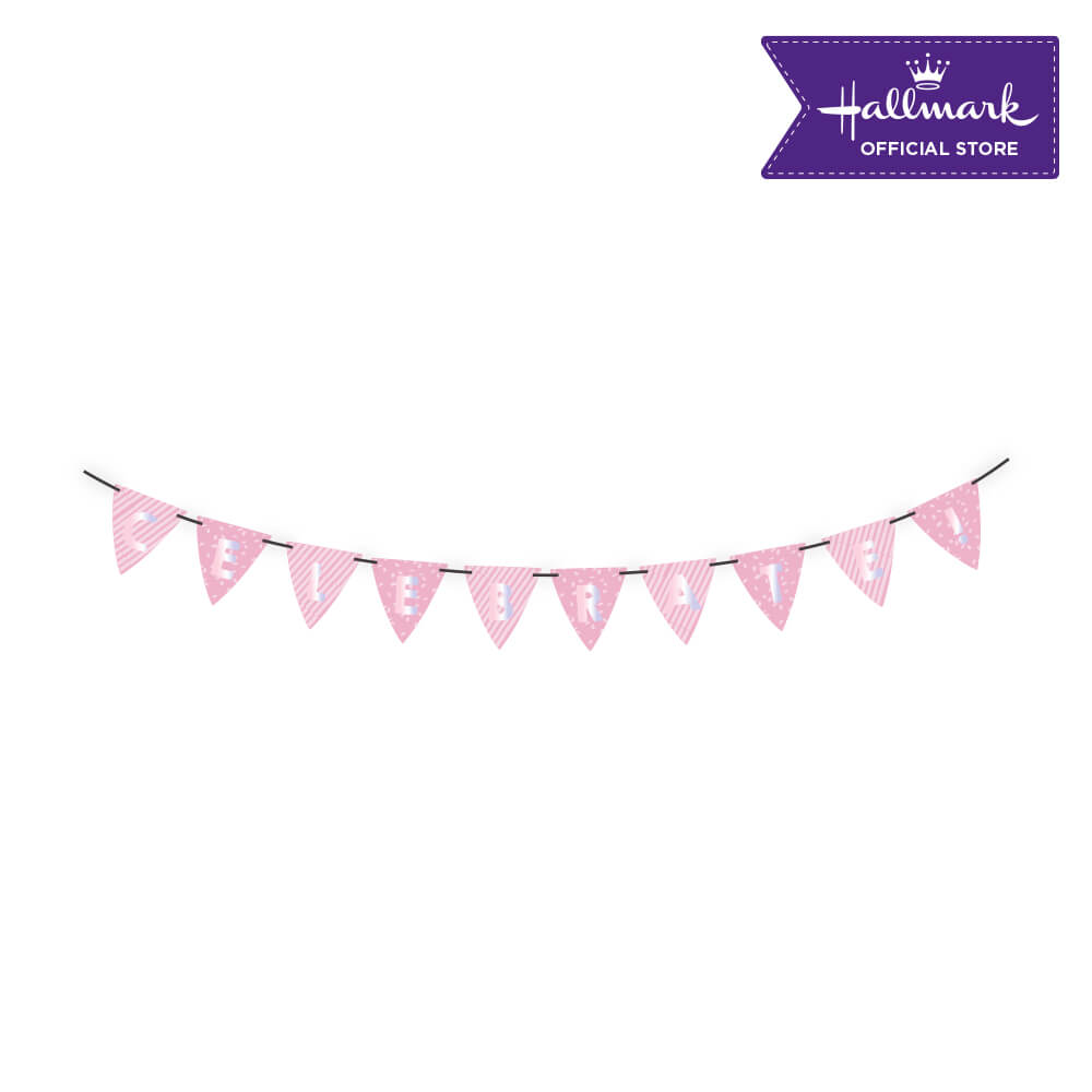Hallmark Party! Party! Pink Celebrate Birthday Banner Party Decor