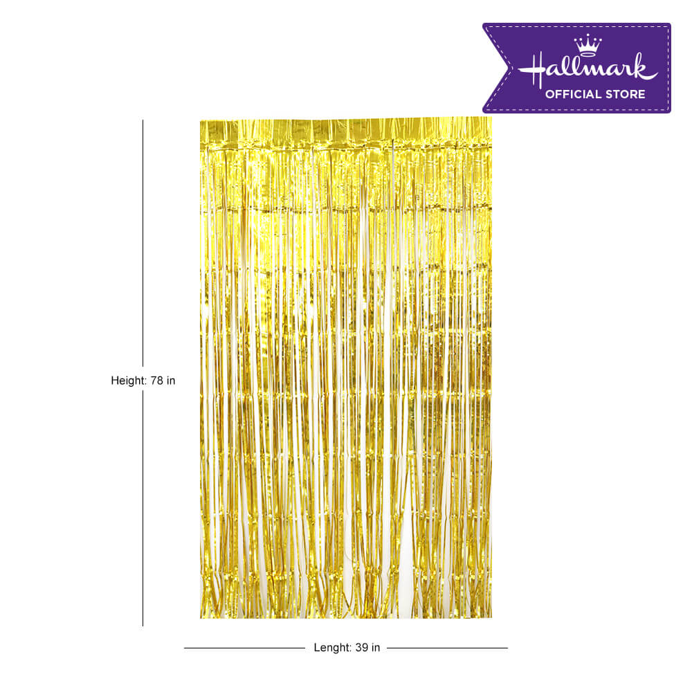 Hallmark Party! Party! Gold Foil Curtain Party Decor