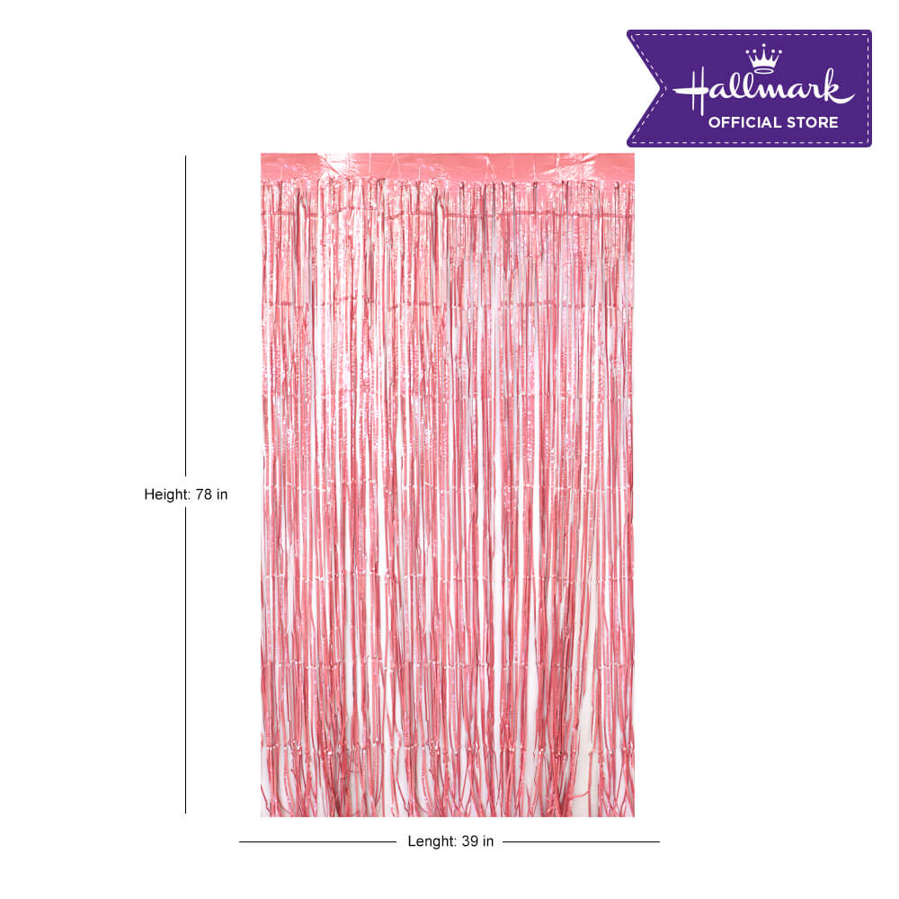 Hallmark Party! Party! Pink Foil Curtain Party Decor