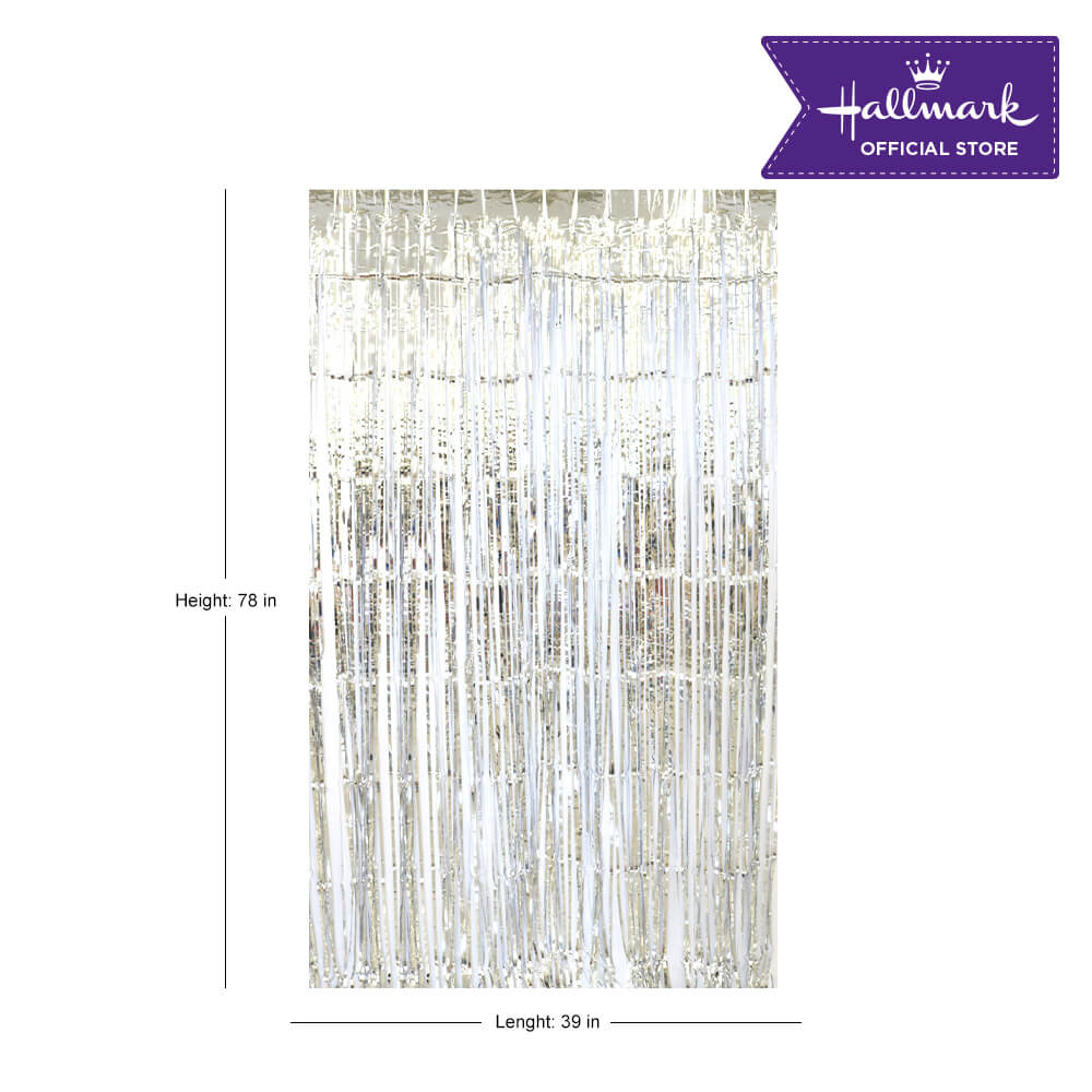 Hallmark Party! Party! Silver Foil Curtain Party Decor