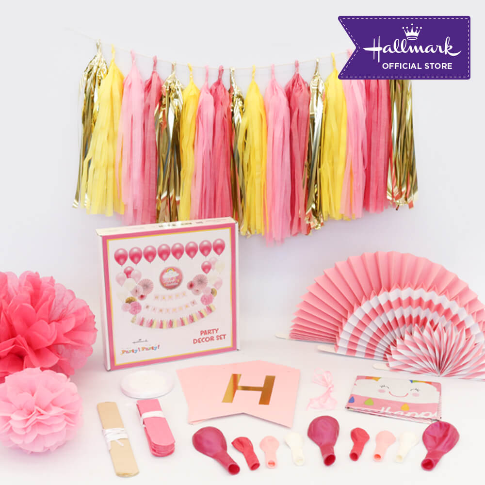 Hallmark Party! Party! Luxury Party Decor Set (Pink)