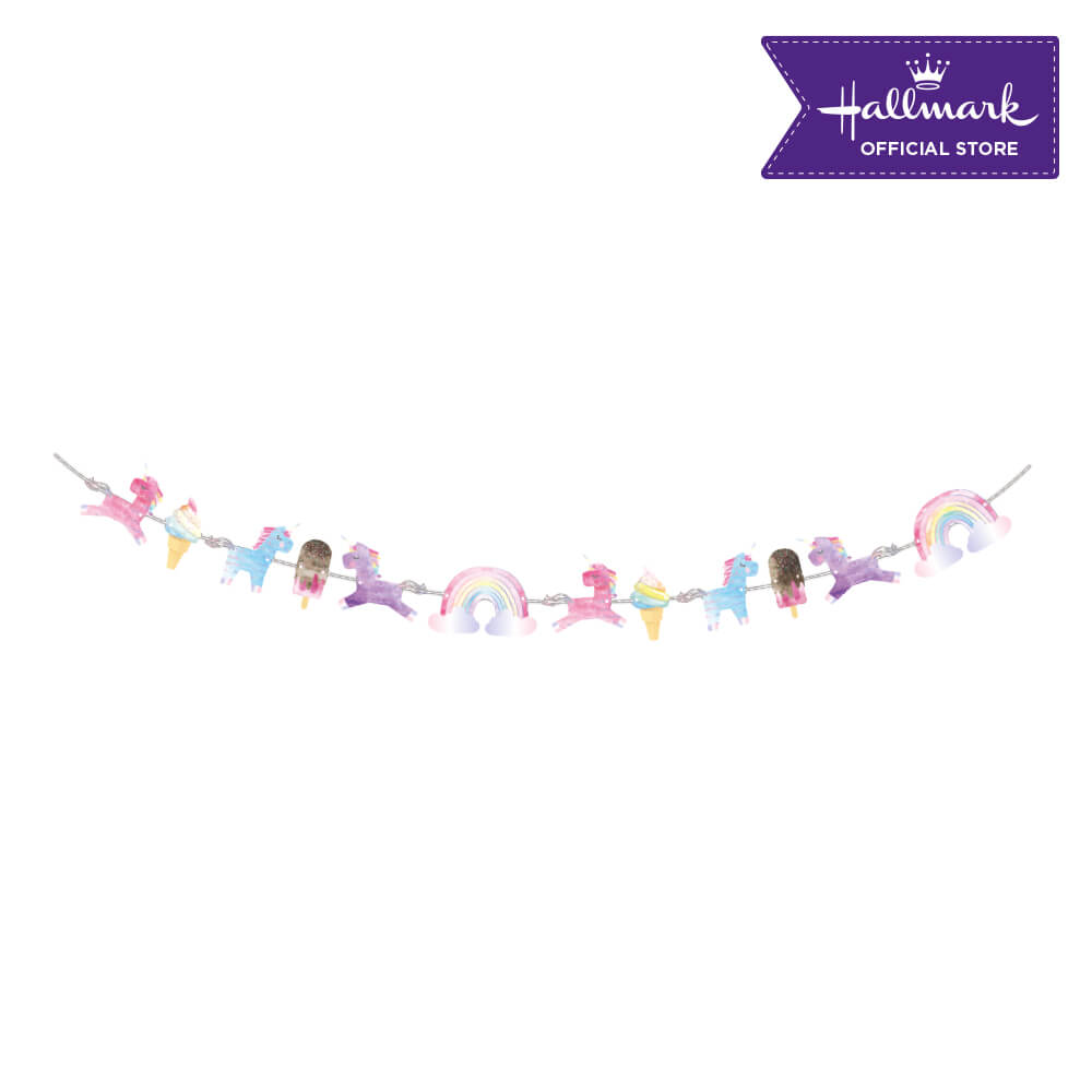Hallmark Party! Party! Unicorn Birthday Banner Party Decor