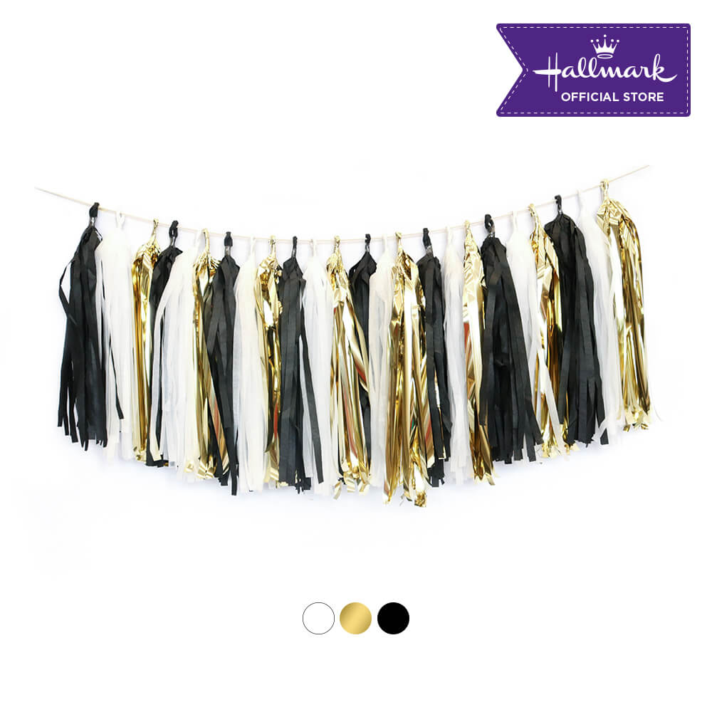 Hallmark Party! Party! Black and Gold Tassel Garland Party Decor